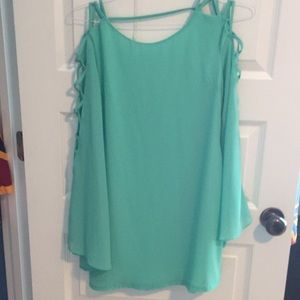 Sea foam green shift dress